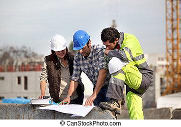 construcción, supervisores, solucionar problema