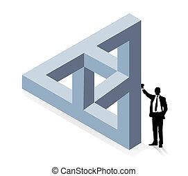 construcción, tridimensional
