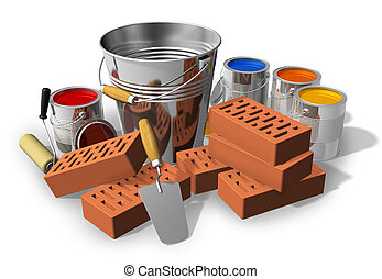 Construcción/concepto de renovación de casas