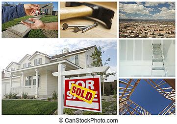 Construcciones y collage de bienes raíces