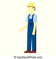 Constructor de contratistas de personas vector de ilustración