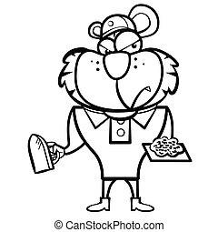 Constructor de tigres de dibujos animados con herramienta derby