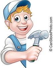 Constructor o carpintero trabajador de construcción