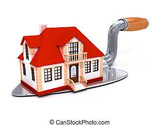construido, casa, herramienta, darby, privado, nuevo