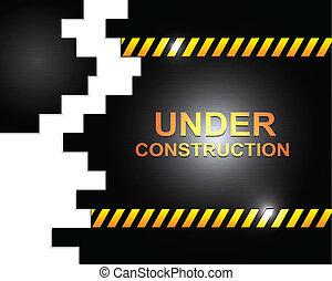 construir, debajo