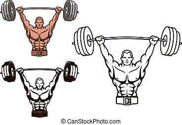 Construye cuerpos con pesas