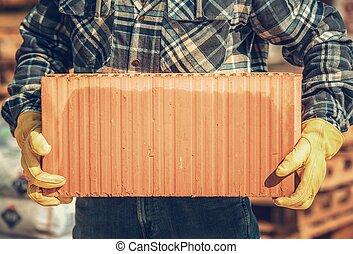 Construyendo bloque de cerámica