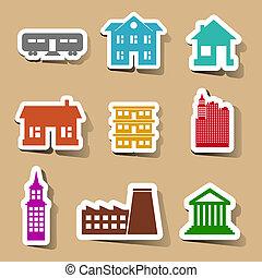 Construyendo iconos con pegatinas de colores