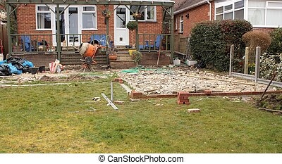 Construyendo un patio