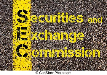 Contabilidad empresarial acrónimo SEC valores y comisión de intercambio
