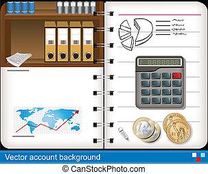 contabilidad, vector, plano de fondo