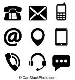 Contacta con los iconos
