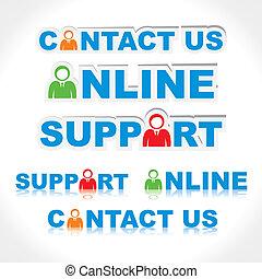 Contacta con nosotros, apoyo, línea