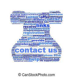 Contacta con nosotros diseño de símbolos aislado en blanco