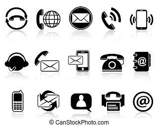 Contacto con iconos fijados