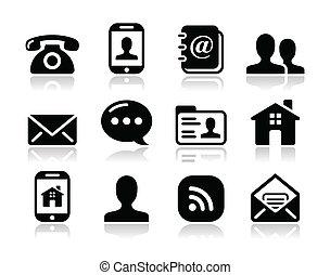 Contacto con iconos fijados - móvil, usuario