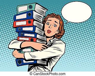 contador, anual, niña, informes