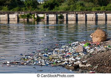 contaminación de agua