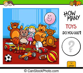 Contando juguetes para niños
