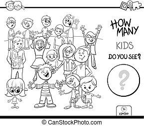 Contando libros de color para niños