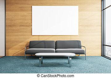 contemporáneo, sofá, habitación, esperar