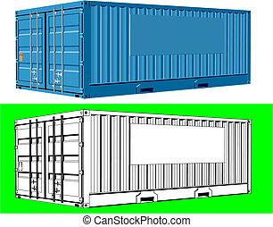 contenedor carga, carga