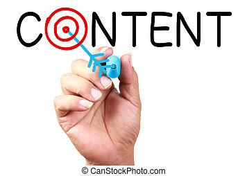 contenido, concepto