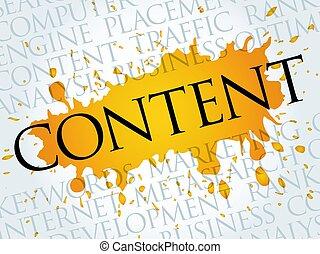 contenido, nube, palabra