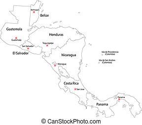 Contornar el mapa de América Central