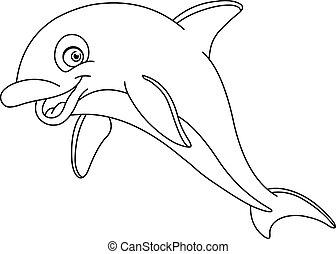 contorneado, delfín