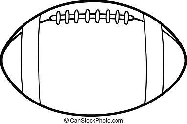 contorneado, fútbol, norteamericano, pelota