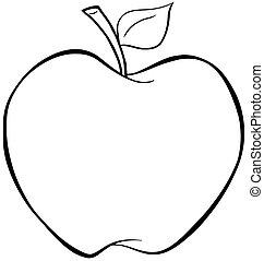 contorneado, manzana