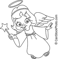 contorneado, navidad, ángel