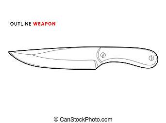 contorno, cuchillo