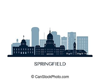 contorno, silhouette., monocromo, springfield