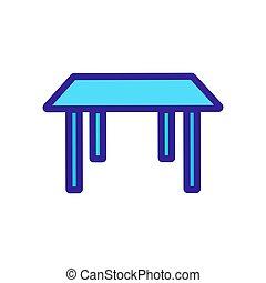 contorno, vector., ilustración, tabla, símbolo, aislado, icono