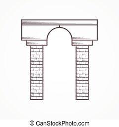 Contour vector icono para arco