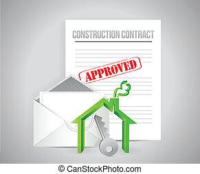Contrato de construcción aprobado