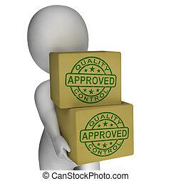 control, actuación, sellos, productos, excelente, calidad, aprobado