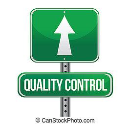 control, concepto, señal, tráfico, calidad, camino