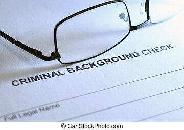 Control de antecedentes penales