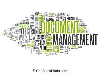 Control de documentos de la nube de palabras