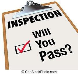 Control de Inspección, ¿me pasas palabras
