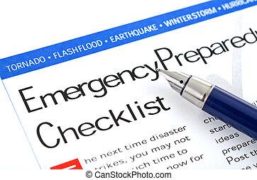 Control de preparación de emergencia