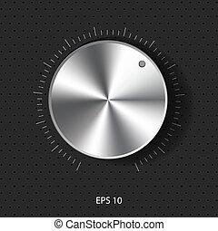 Control de sonido con textu metálico