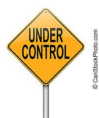control., debajo