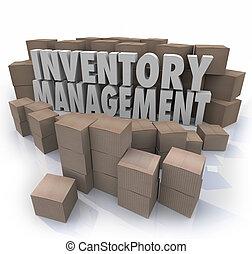 control, dirección, palabras, cadena, suministro, p, cajas, inventario, logístico
