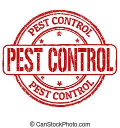 control, estampilla, peste