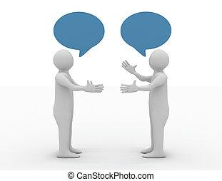 Conversación con el concepto de dos hombres