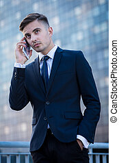 Conversación en el teléfono móvil